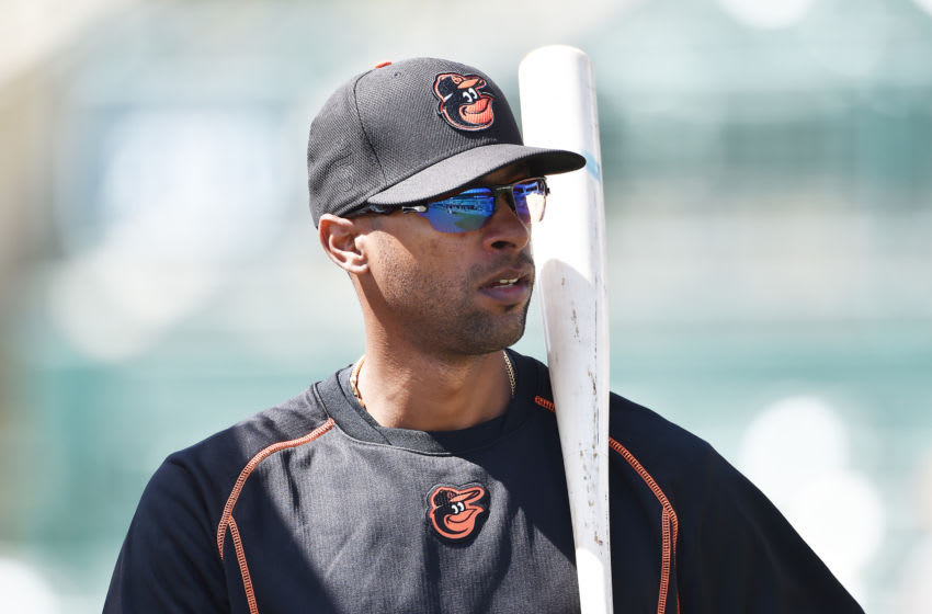 SARASOTA, FL - MARCH 07: Henry Urrutia #51 of the Baltimore Orioles looks on before a spring training game against the Minnesota Twins at Ed Smith Stadium on March 7 2016 in Sarasota, Florida. (Photo by Ronald C. Modra/Getty Images)