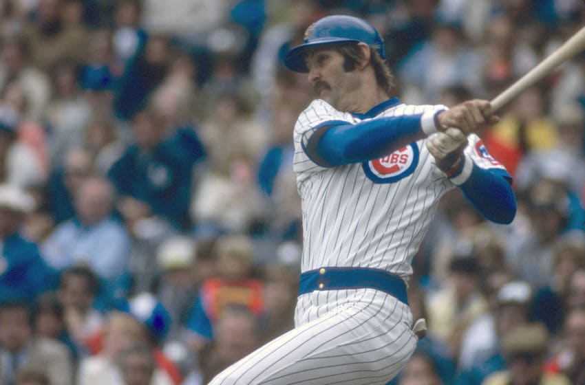 CHICAGO, IL - CIRCA 1979: Dave Kingman #10 of the Chicago Cubs bats during an Major League Baseball game circa 1979 at Wrigley Field in Chicago, Illinois. Kingman played for the Cubs from 1978-80. (Photo by Focus on Sport/Getty Images)
