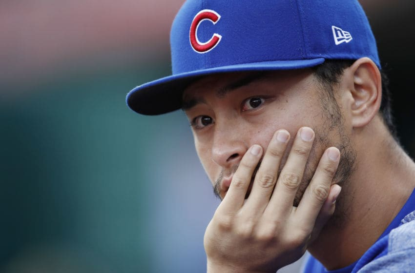 CINCINNATI, OH - JUNE 21: Yu Darvish #11 of the Chicago Cubs looks on in the first inning against the Cincinnati Reds at Great American Ball Park on June 21, 2018 in Cincinnati, Ohio. The Reds won 6-2. (Photo by Joe Robbins/Getty Images)