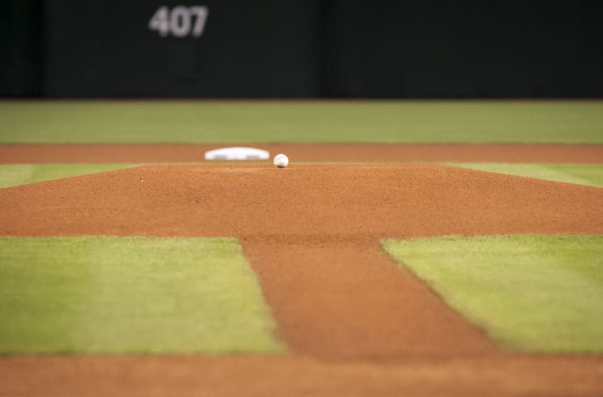 PHOENIX, AZ - OCTOBER 02: The diamond is ready for the MLB game between the San Diego Padres and Arizona Diamondbacks at Chase Field on October 2, 2016 in Phoenix, Arizona. The Arizona Diamondbacks defeated the San Diego Padres 3-2. (Photo by Darin Wallentine/Getty Images)