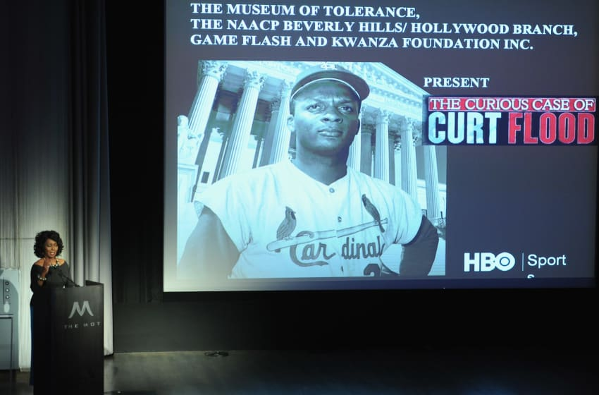 LOS ANGELES, CA - JULY 11: Actress Judy Pace Flood attends the Los Angeles Premiere of HBO's 'The Curious Case of Curt Flood' at Museum Of Tolerance on July 11, 2011 in Los Angeles, California. (Photo by Alberto E. Rodriguez/Getty Images)