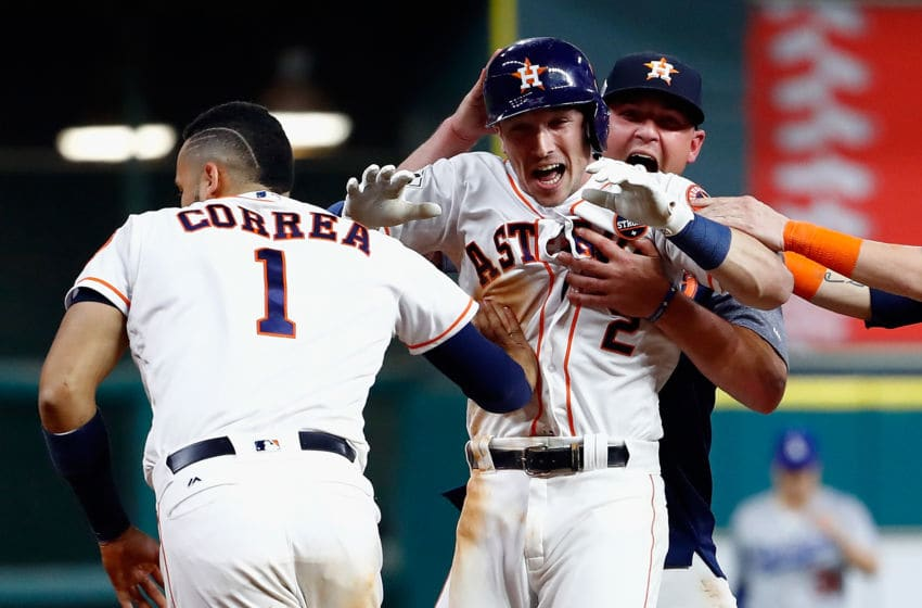 HOUSTON, TX - OCTOBER 30: Alex Bregman. (Photo by Jamie Squire/Getty Images)