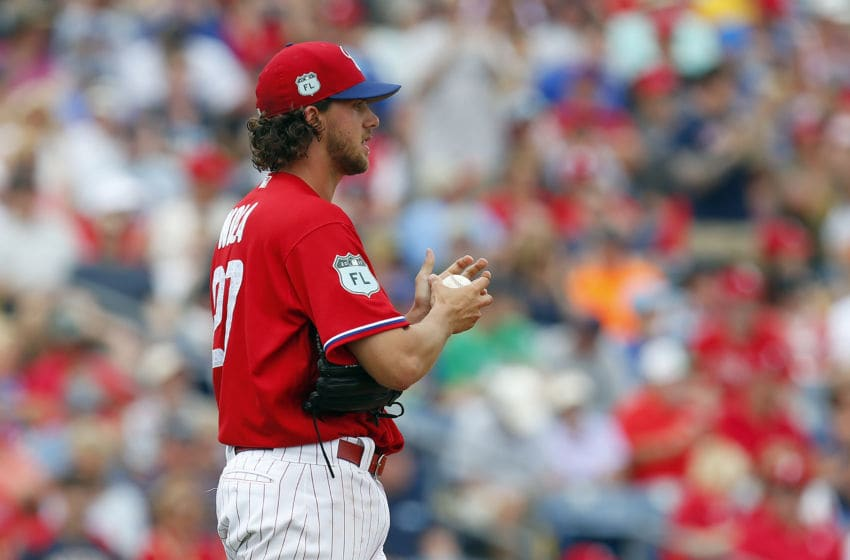 Nola will be on the mound in Clearwater when you see the Phils again on TV. Photo by Justin K. Aller/Getty Images.