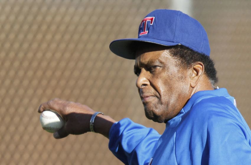 Country singer Charlie Pride makes his annual visit at Texas Rangers spring training in Surprise, Ariz., on Tuesday, Feb. 23, 2016. (Rodger Mallison/Fort Worth Star-Telegram/TNS via Getty Images)