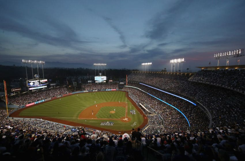 LOS ANGELES, CA - OCTOBER 28: A general view during the third inning of Game Five of the 2018 World Series between the Los Angeles Dodgers and the Boston Red Sox at Dodger Stadium on October 28, 2018 in Los Angeles, California. (Photo by Ezra Shaw/Getty Images)