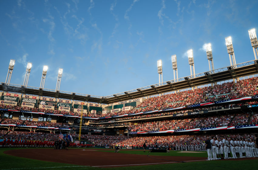 CLEVELAND, OH - JULY 09: A general view of Progressive Field prior to the 90th MLB All-Star Game on July 9, 2019 at Progressive Field in Cleveland, Ohio. (Photo by Brace Hemmelgarn/Minnesota Twins/Getty Images)
