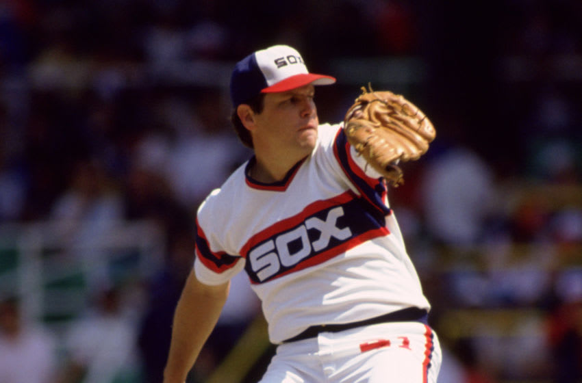 CHICAGO - 1985: Tom Seaver of the Chicago White Sox pitches during an MLB game at Comiskey Park in Chicago, Illinois. (Photo by Ron Vesely/MLB Photos via Getty Images)