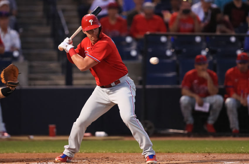 Expect Hoskins to make a full contribution to the Phillies this season. Photo by Carmen Mandato/Getty Images.