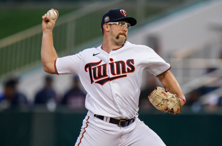 FORT MYERS, FL- FEBRUARY 21: Randy Dobnak #68 of the Minnesota Twins pitches during a game against the University of Minnesota Golden Gophers on February 21, 2020 at the Hammond Stadium in Fort Myers, Florida. (Photo by Brace Hemmelgarn/Minnesota Twins/Getty Images)
