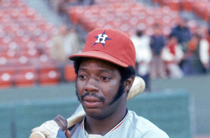 JUNE - 1973: Jimmy Wynn of the Houston Astros poses for a portrait prior to a game in June of 1973. (Photo by Michael Zagaris/MLB Photos via Getty Images)