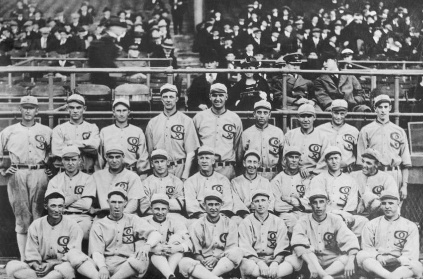 Group shot of the 1919 White Sox. They would after this year be known as the