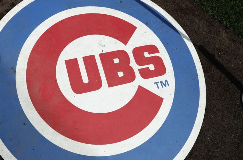 CHICAGO, IL - AUGUST 31: General view of the Chicago Cubs logo on the on deck circle prior to a game against the Pittsburgh Pirates at Wrigley Field on August 31, 2016 in Chicago, Illinois. (Photo by Joe Robbins/Getty Images) *** Local Caption ***