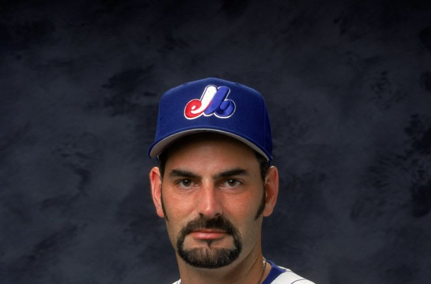 26 Feb 2000: Pitcher Graeme Lloyd #37 of the Montreal Expos poses for a studio portrait during Spring Training Photo Day in Jupiter, Florida. Mandatory Credit: Matthew Stockman /Allsport