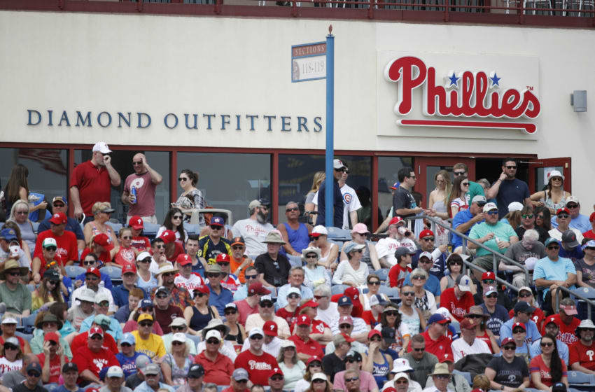 CLEARWATER, FL - MARCH 25: General view of the Philadelphia Phillies team shop during a Grapefruit League spring training game against the Baltimore Orioles at Spectrum Field on March 25, 2018 in Clearwater, Florida. The Orioles won 6-5. (Photo by Joe Robbins/Getty Images) *** Local Caption ***