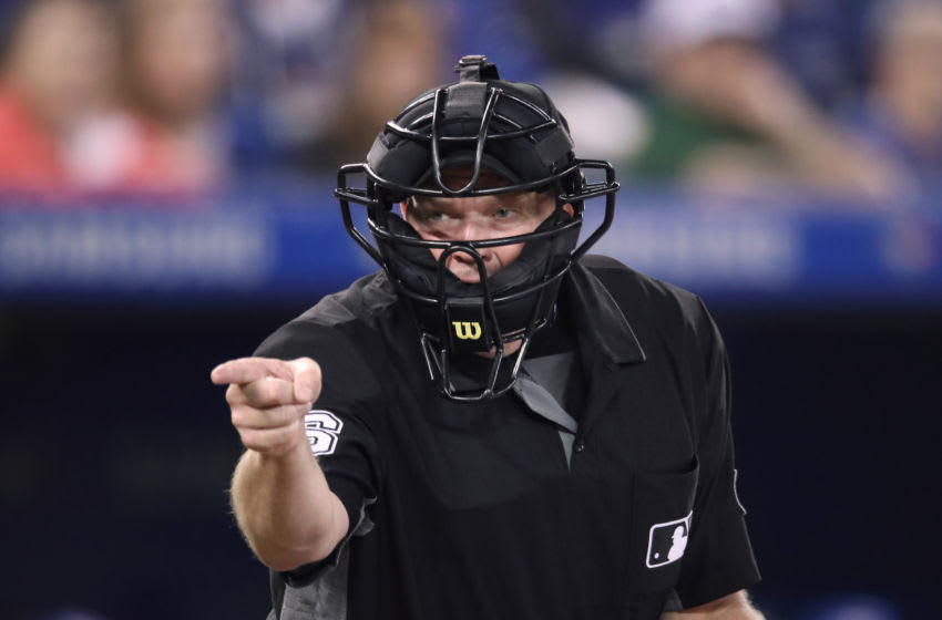Umpire Ron Kulpa, whose work was at the cener of a major dustup with Houston Astros brass Wednesday night. (Photo by Tom Szczerbowski/Getty Images) *** Local Caption *** Ron Kulpa