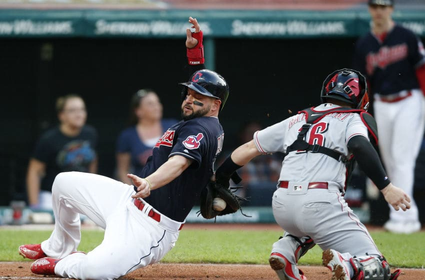 The Reds and Indians played two of 11 interleague games this week. (Photo by Ron Schwane/Getty Images)