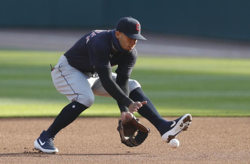 Cleveland Indians second baseman Cesar Hernandez. Mandatory Credit: Raj Mehta-USA TODAY Sports