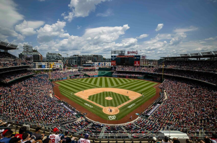 Jul 4, 2021; Washington, District of Columbia, USA; A general view of the stadium during the game between the Washington Nationals and the Los Angeles Dodgers at Nationals Park. Mandatory Credit: Scott Taetsch-USA TODAY Sports