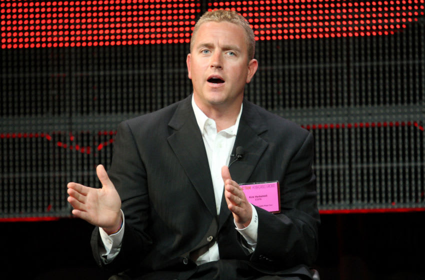 PASADENA, CA - JANUARY 05: Broadcaster Kirk Herbstreit speaks onstage during the