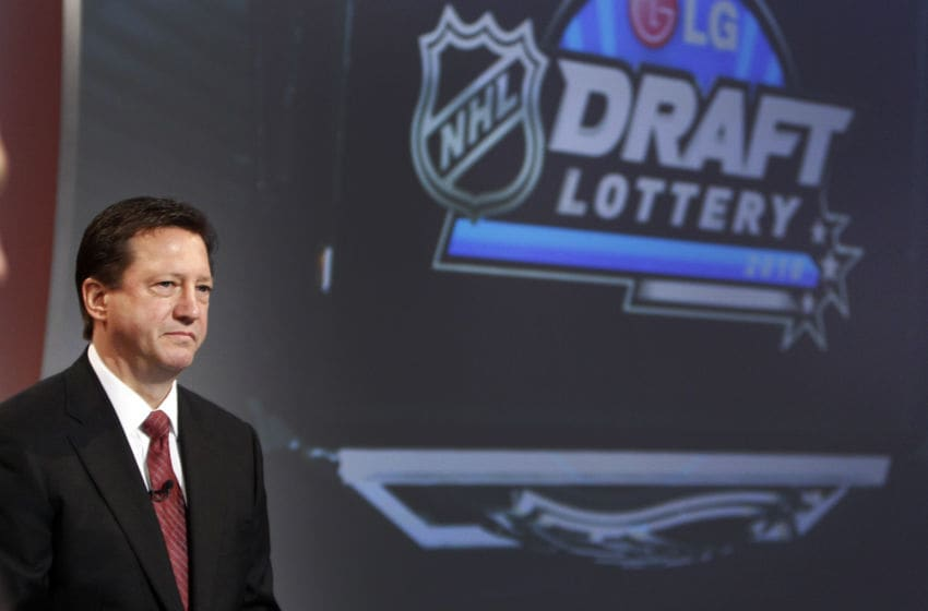 NHL Draft Lottery (Photo by Abelimages / Getty Images for NHL)