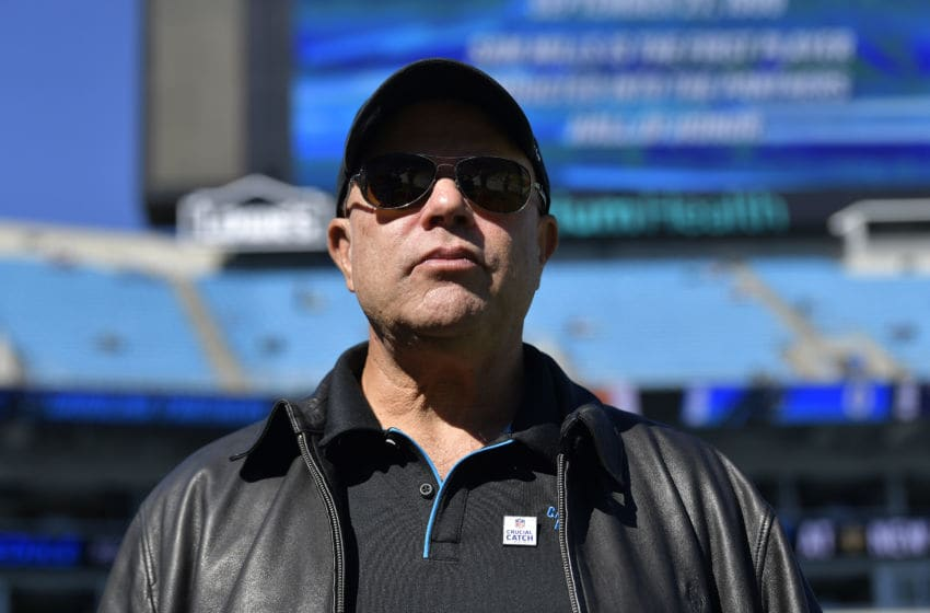 CHARLOTTE, NORTH CAROLINA - NOVEMBER 03: Owner David Tepper of the Carolina Panthers watches his team during their game against the Tennessee Titans at Bank of America Stadium on November 03, 2019 in Charlotte, North Carolina. (Photo by Grant Halverson/Getty Images)