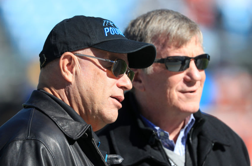 (Photo by Streeter Lecka/Getty Images) David Tepper and Marty Hurney