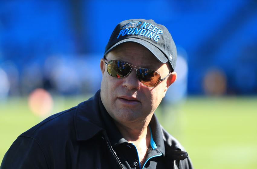 CHARLOTTE, NORTH CAROLINA - NOVEMBER 03: Team owner, David Tepper, of the Carolina Panthers watches on before their game against the Tennessee Titans at Bank of America Stadium on November 03, 2019 in Charlotte, North Carolina. (Photo by Streeter Lecka/Getty Images)