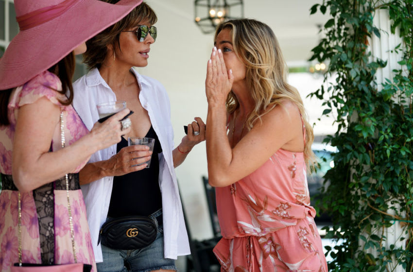 THE REAL HOUSEWIVES OF BEVERLY HILLS -- Pictured: (l-r) Lisa Rinna, Denise Richards -- (Photo by: Nicole Weingart/Bravo)