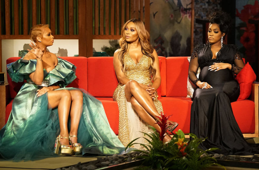 THE REAL HOUSEWIVES OF ATLANTA, Eva Marcille, Cynthia Bailey, Porsha Williams (Photo by: Annette Brown/Bravo)
