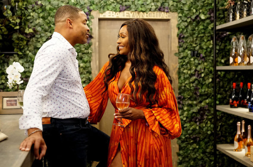 THE REAL HOUSEWIVES OF ATLANTA -- Pictured: (l-r) Mike Hill, Cynthia Bailey -- (Photo by: Annette Brown/Bravo)