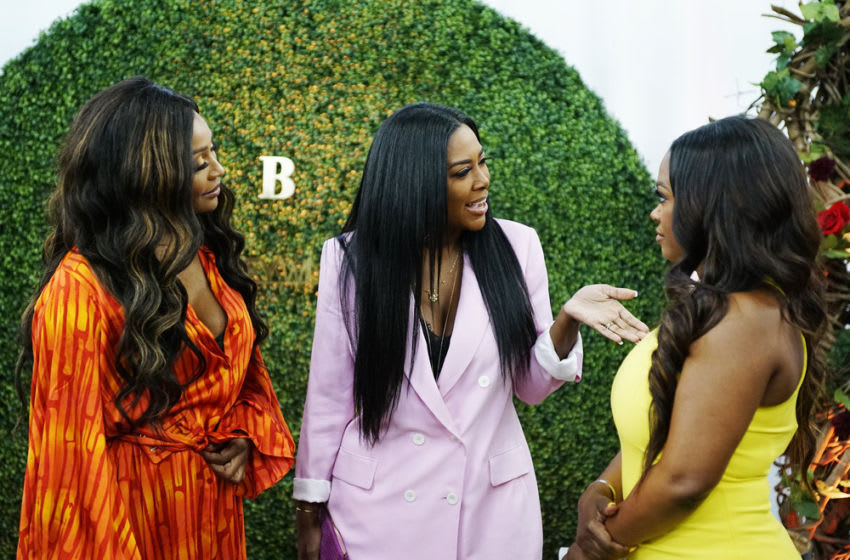 THE REAL HOUSEWIVES OF ATLANTA -- Pictured: (l-r) Cynthia Bailey, Kenya Moore, Kandi Burruss -- (Photo by: Annette Brown/Bravo)