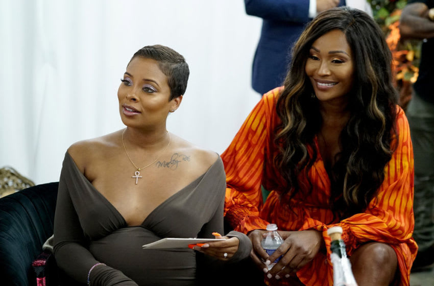 THE REAL HOUSEWIVES OF ATLANTA -- Pictured: (l-r) Eva Marcille, Cynthia Bailey -- (Photo by: Annette Brown/Bravo)