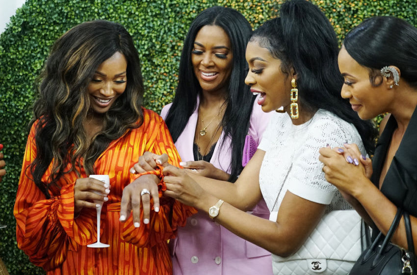 THE REAL HOUSEWIVES OF ATLANTA -- Pictured: (l-r) Cynthia Bailey, Kenya Moore, Porsha Williams -- (Photo by: Annette Brown/Bravo)