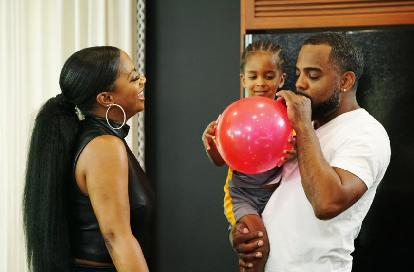 THE REAL HOUSEWIVES OF ATLANTA -- Pictured: (l-r) Kandi Burruss, Todd Tucker -- (Photo by: Annette Brown/Bravo)