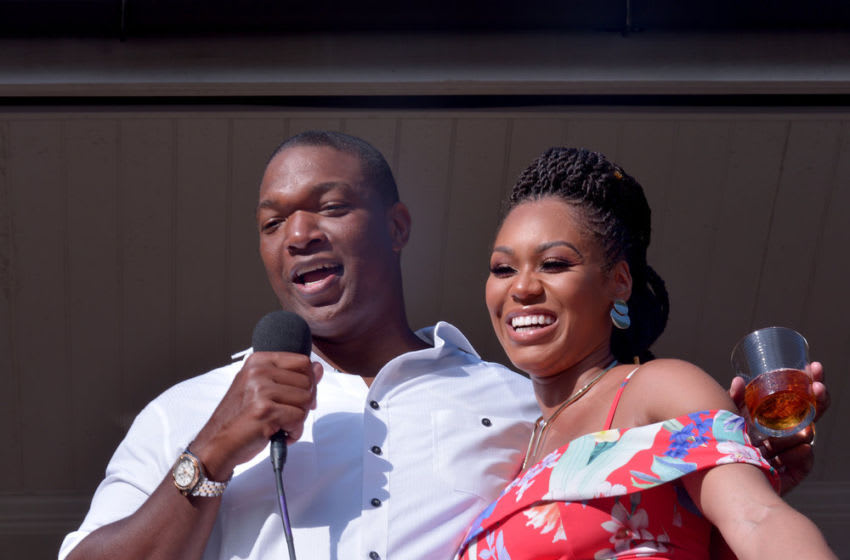THE REAL HOUSEWIVES OF POTOMAC, Chris Samuels, Monique Samuels -- (Photo by: Shannon Finney/Bravo)
