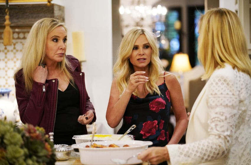 THE REAL HOUSEWIVES OF ORANGE COUNTY, Shannon Storms Beador, Tamra Judge (Photo by: Casey Durkin/Bravo)