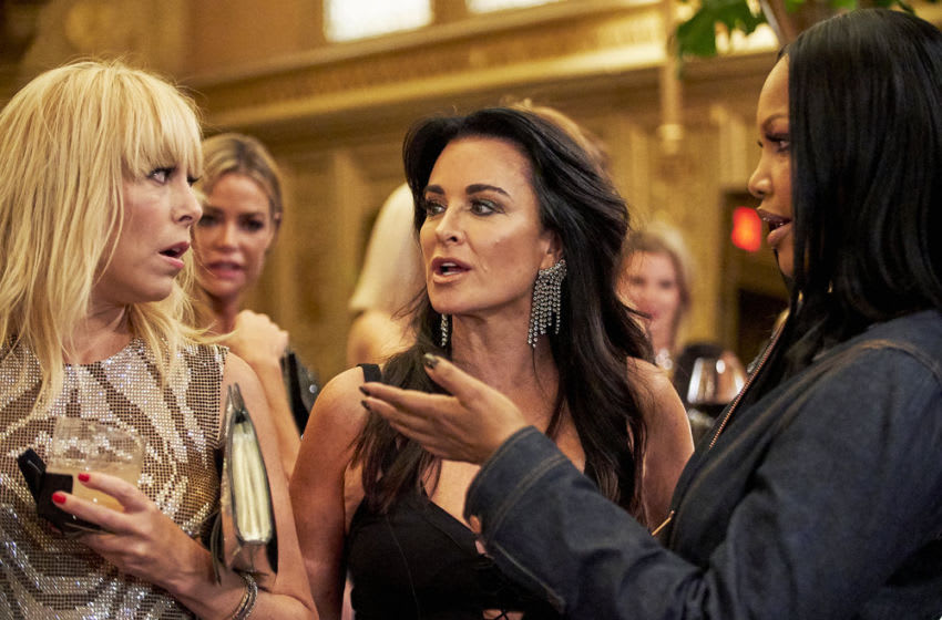THE REAL HOUSEWIVES OF Beverly Hills, Sutton Stracke, Kyle Richards, Garcelle Beauvais (Photo by: Kathy Boos/Bravo)