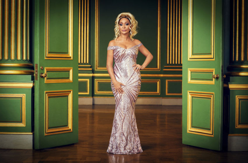 THE REAL HOUSEWIVES OF POTOMAC, Karen Huger (Photo by: Sophy Holland/Bravo)