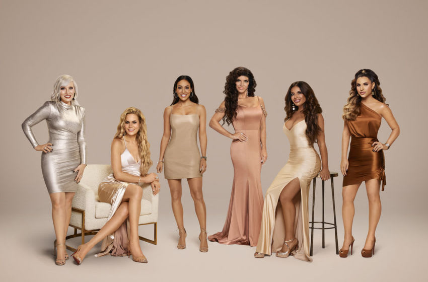 THE REAL HOUSEWIVES OF NEW JERSEY -- Season:11 -- Pictured: (l-r) Margaret Josephs, Jackie Goldschneider, Melissa Gorga, Teresa Giudice, Dolores Catania, Jennifer Aydin -- (Photo by: Rodolfo Martinez/Bravo)