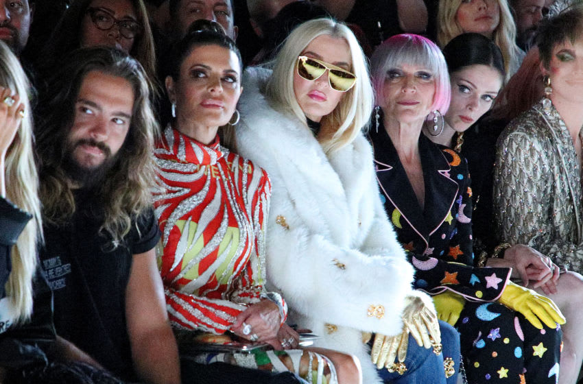 NEW YORK, NEW YORK, Tom Kaulitz, Lisa Rinna, Erika Jayne, and Maye Musk (Photo by Astrid Stawiarz/Getty Images for NYFW: The Shows)