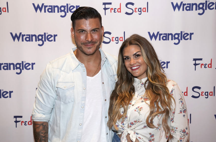 """LOS ANGELES, CALIFORNIA - SEPTEMBER 19: Jax Taylor (L) and Brittany Cartwright attend """"A Ride Through the Ages"""": Wrangler Capsule Collection Launch at Fred Segal Sunset at Fred Segal on September 19, 2019 in Los Angeles, California. (Photo by Erik Voake/Getty Images for Wrangler)"""