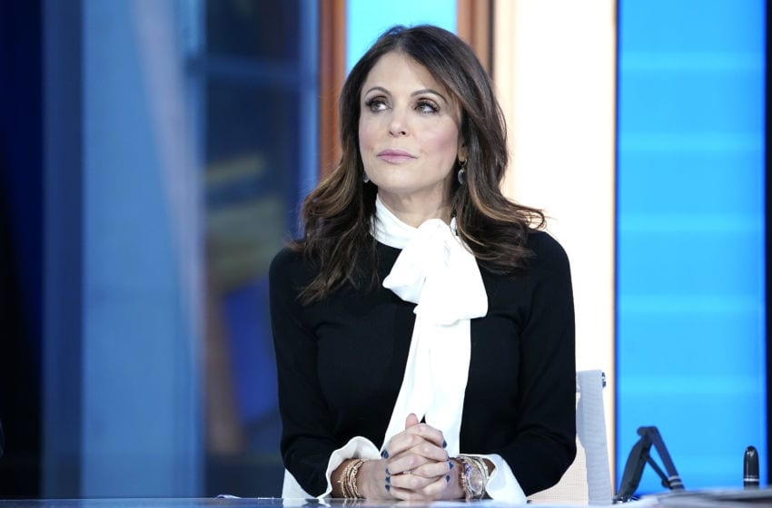 NEW YORK, NEW YORK - JANUARY 09: Fox anchor Maria Bartiromo interview Bethenny Frankel (L) during'