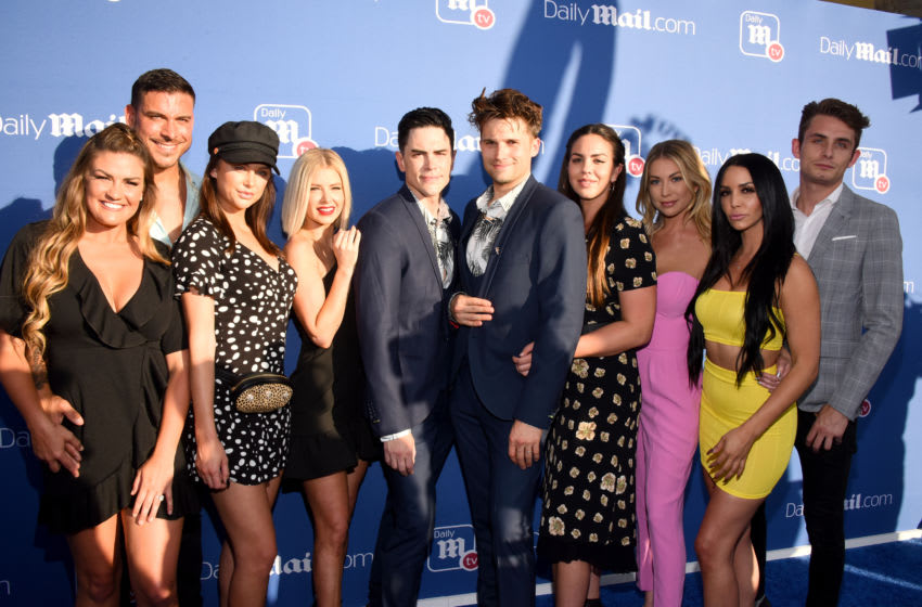 WEST HOLLYWOOD, CA - JULY 11: Jax Taylor, Brittany Cartwright, Lala Kent, Ariana Maddix, Tom Sandoval, Katie Maloney-Schwartz, Stassi Schroeder, Scheana Shay and James Kennedy attend the DailyMail.com & DailyMailTV Summer Party at Tom Tom on July 11, 2018 in West Hollywood, California. (Photo by Araya Diaz/Getty Images for DailyMail.com)
