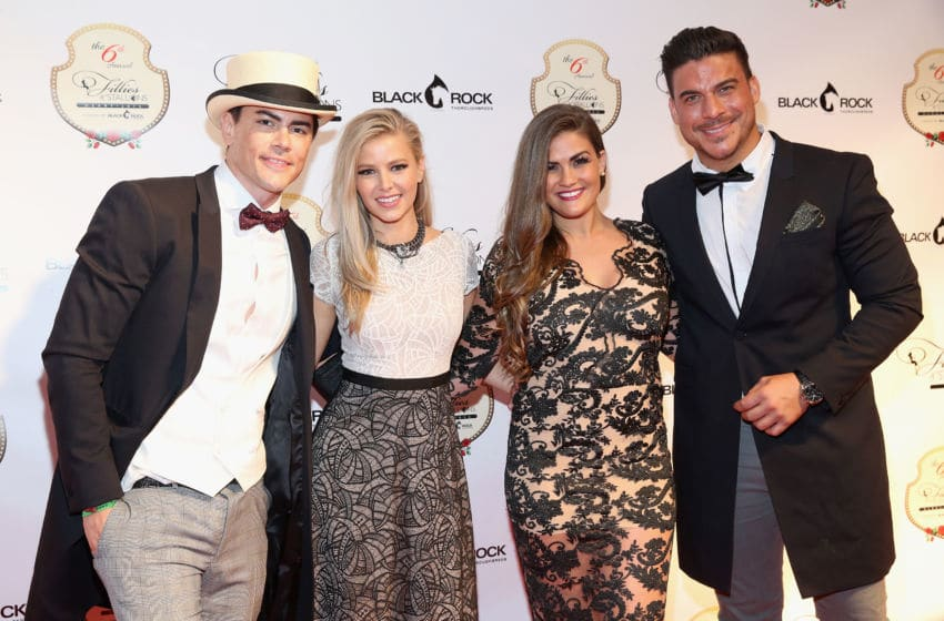 LOUISVILLE, KY - MAY 06: (L-R) Tom Sandoval, Ariana Madix, Brittany Cartwright and Jax Taylor attend The 6th Annual Fillies