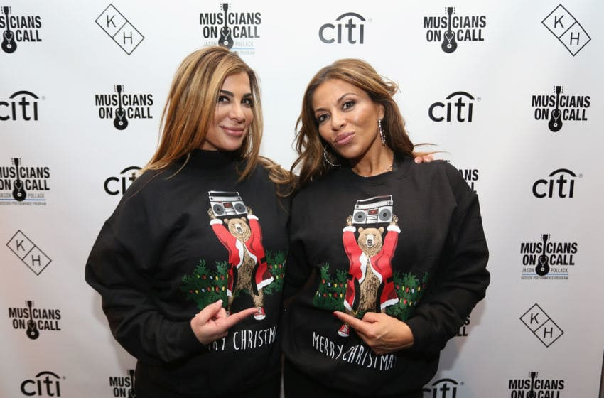 NEW YORK, NY - DECEMBER 08: TV personalities Siggy Flicker (L) and Dolores Catania attend the Musicians On Call Deck The Halls Holiday Sweater Party at Kola House on December 8, 2016 in New York City. (Photo by Donald Bowers/Getty Images for Pepsi)