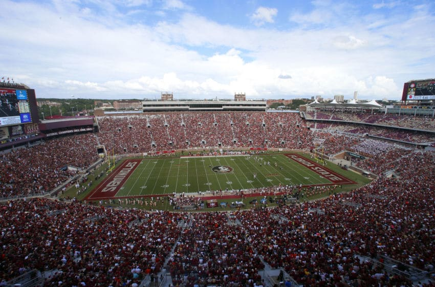 TALLAHASSEE, FL - OCTOBER 7: Doak S. Campbell Stadium during the first half of an NCAA football game at Doak S. Campbell Stadium on October 7, 2017 in Tallahassee, Florida. (Photo by Butch Dill/Getty Images)