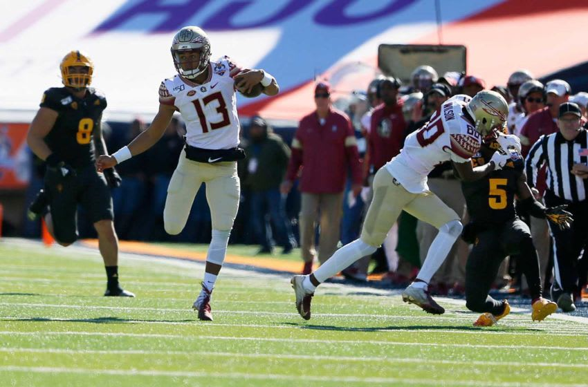 FSU's Jordan Travis during the game against ASU in the Tony the Tiger Sun Bowl Tuesday, Dec. 31, at the Sun Bowl in El Paso. Sun Bowl 2019 026