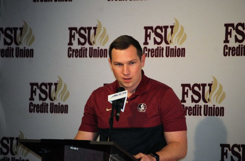 FSU offensive coordinator Kenny Dillingham at the FSU National Signing Day Party on Feb. 5, 2020. Img 4492