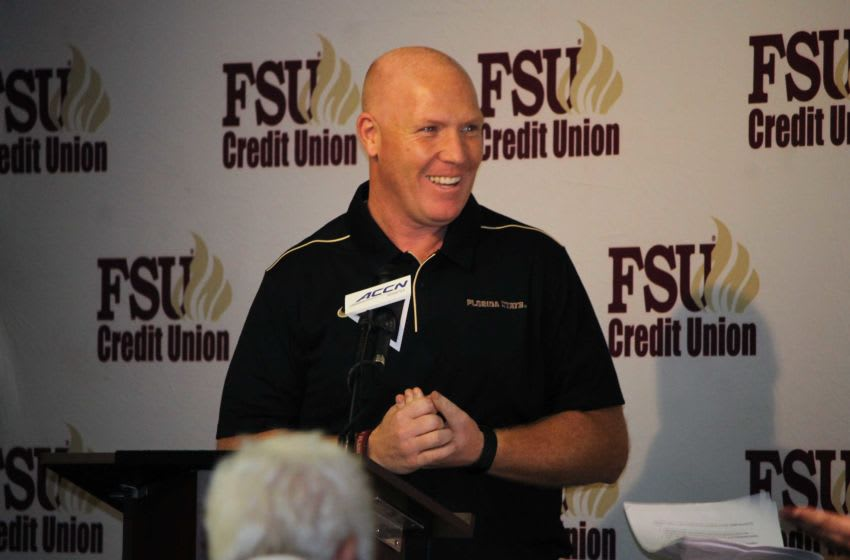 FSU defensive coordinator Adam Fuller at the FSU National Signing Day Party on Feb. 5, 2020. Img 4484