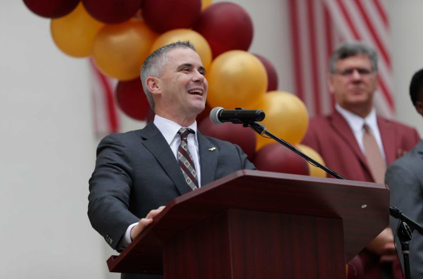 Florida State University Head Football Coach Mike Norvell speaks during FSU Day at the Capitol Wednesday, Feb. 12, 2020. Fsu Day 021220 Ts 164